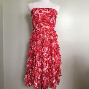 White House Black Market Strapless Prom Dress